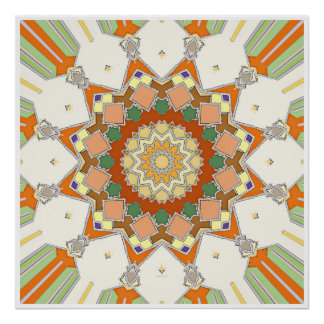Colorful Symmetrical Star Poster