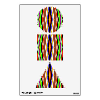 Colorful symmetry room graphics