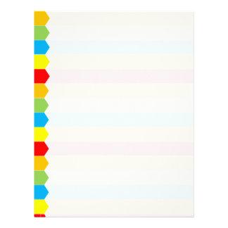 Colorful Tab Letterhead