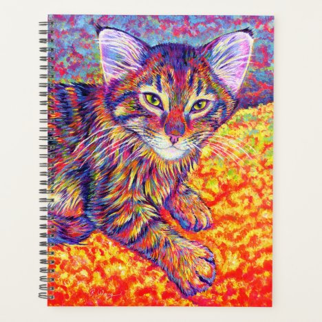 Colorful Tabby Maine Coon Kitten Planner