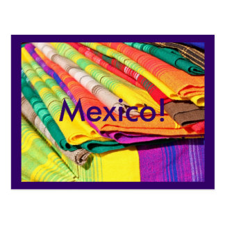 colorful tablecloth picture postcard