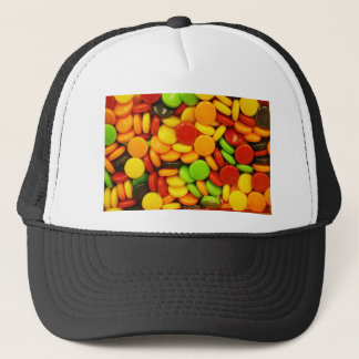 Colorful tablet candies trucker hat