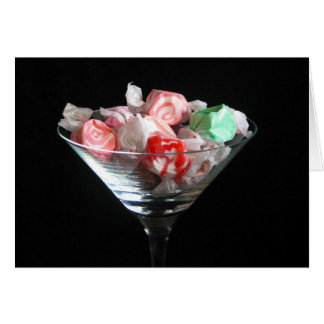 Colorful taffy candy greeting card