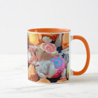 Colorful taffy candy pattern coffee mug