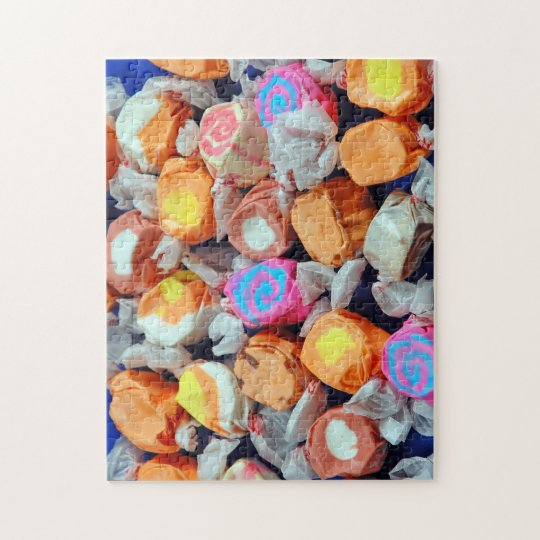 Colorful taffy candy print puzzle