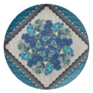 Colorful Tahitian Clams Mandala Party Plate