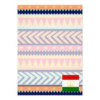 "Colorful Tajikistan Flag Box 5"" X 7"" Invitation Card"