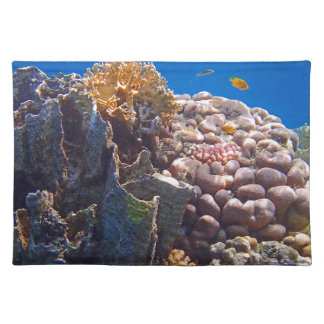 colorful talk sea cloth place mat
