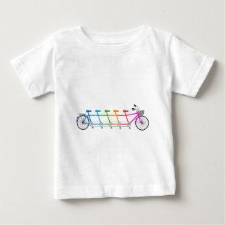 colorful tandem bicycle, team bike baby T-Shirt