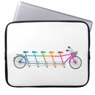 colorful tandem bicycle, team bike computer sleeve