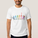 colorful tandem bicycle with cute birds family T-Shirt