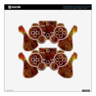 Colorful Tangerine Orange Yellow Abstract PS3 Controller Skin