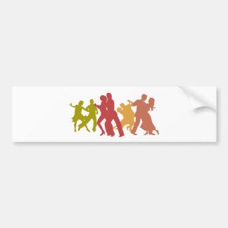 Colorful Tango Dancers Bumper Sticker
