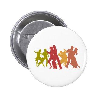 Colorful Tango Dancers Button