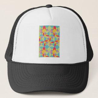 Colorful Tangram Pattern Trucker Hat
