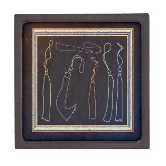 Colorful Tassels in Frame, Chalkboard Jewelry Box