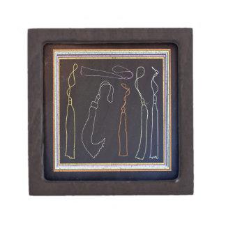 Colorful Tassels in Frame, Chalkboard Keepsake Box