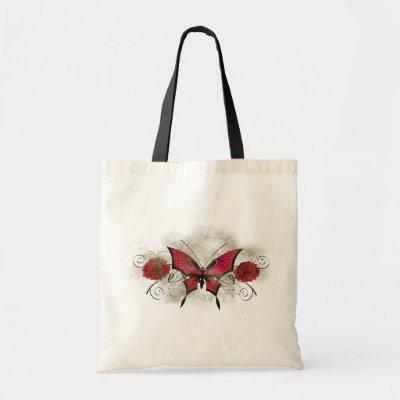 Colorful Tattoo Butterfly Grunge Bag by gidget26
