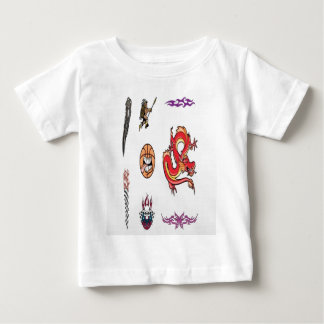 Colorful tattoos baby T-Shirt