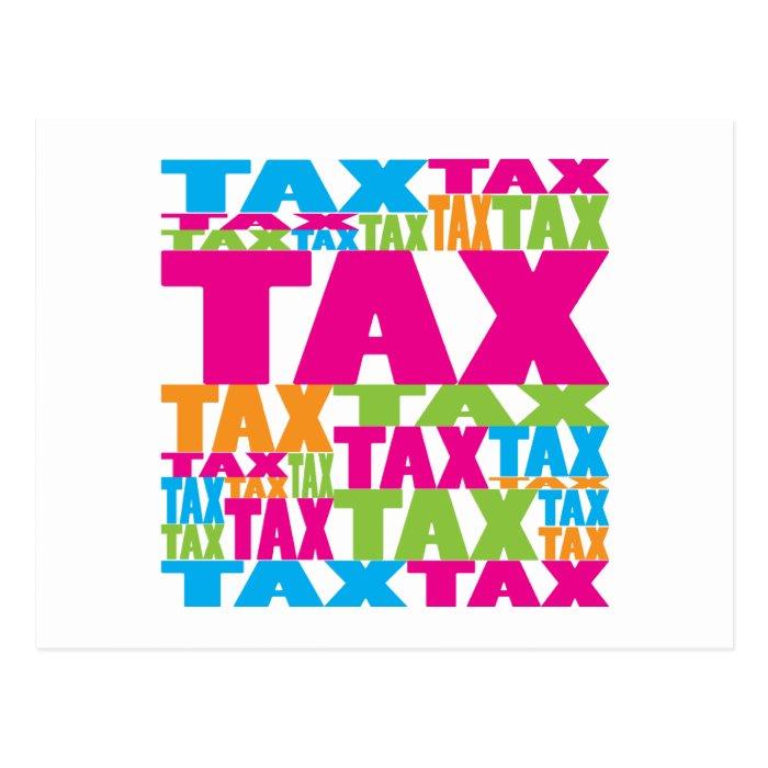 Colorful Tax Postcard