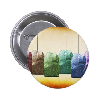 Colorful Teabags Pinback Buttons
