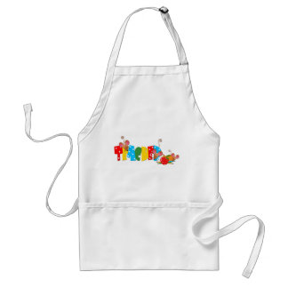 Colorful Teacher Text, Cute Mice Adult Apron
