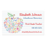 Colorful Teachers Apple Business Card