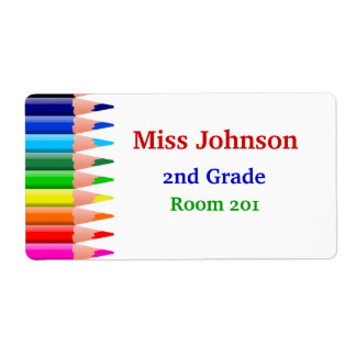 Colorful Teacher's Name Tags Shipping Label