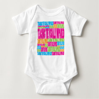 Colorful Teaching the Visually Impaired Baby Bodysuit