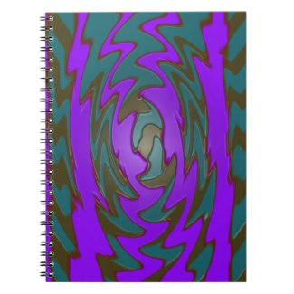 Colorful teal purple artwork spiral note books