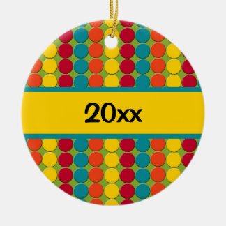 Colorful Teal Red Yellow Orange Ornament