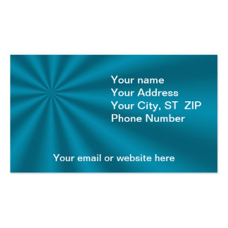 Colorful Teal Starburst Business Cards