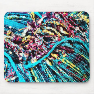 Colorful Teal Turquoise Pink Yarn Threads Craft Mouse Pad