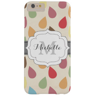 Colorful Teardrop, Raindrop Pattern Barely There iPhone 6 Plus Case