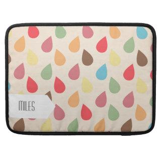 Colorful Teardrop, Raindrop Pattern Sleeve For MacBook Pro