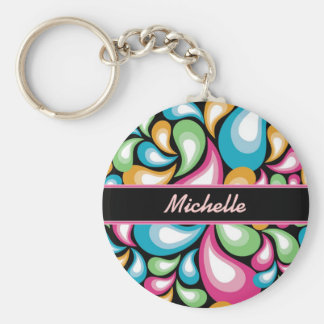Colorful Teardrops Keychain