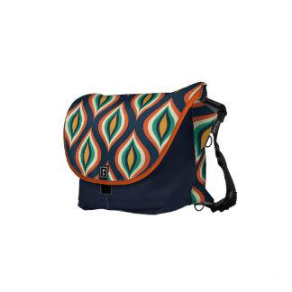 Colorful Teardrops Modern Geometric Pattern Small Messenger Bag