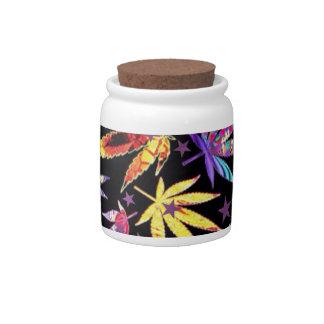 Colorful teenage candy jars