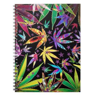 Colorful teenage notebook
