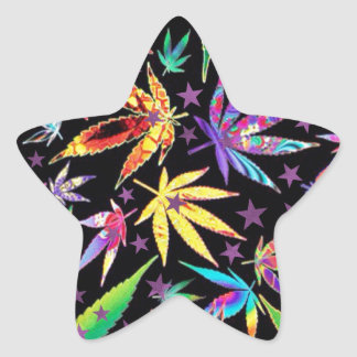Colorful teenage star sticker