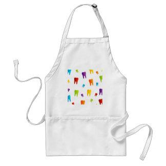 Colorful teeth adult apron
