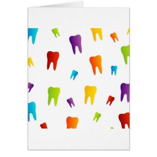 Colorful teeth card