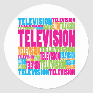 Colorful Television Stickers