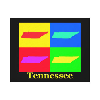 Colorful Tennessee Pop Art Map Gallery Wrap Canvas