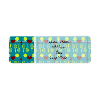 Colorful tennis pattern label