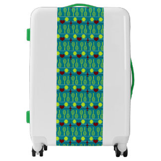 Colorful tennis pattern luggage