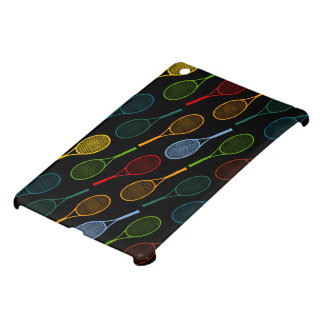 colorful tennis rackets pattern case for the iPad mini