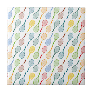 colorful tennis rackets pattern ceramic tile