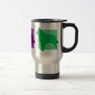 Colorful Tervuren Silhouettes Coffee Mug
