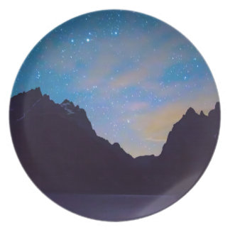 Colorful Teton Night Melamine Plate